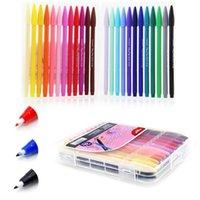 Wholesale water based markers resale online - Diy Cartoon Drawing Colorful Water Based Ink Lettering Marker mm Ink Pen Graffiti Sketch Colors Art Supplies Mkb09 wmtHau