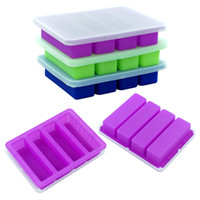 YHSWE Silicone Butter Mould container Bake cake baking moulds 4 grids with cover