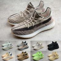 Wholesale floor tails for sale - Group buy Mens Kanye West V2 Sneakers Antlia Carbon M Reflective Zebra Cloud White Clay Marsh Cream Static Cinder Zyon Tail Light Running Shoes