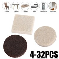 Wholesale furniture table legs resale online - Areyourshop Furniture Felt Pads Square Round Floor Protector Chair Table Leg Sticky Back Home Accessories Parts