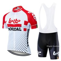 Wholesale lotto men cycling jersey resale online - Fashion Lotto Short Sleeve Cycling Jersey Pants Suit Men S Summer Mtb Pro Bicycling Shirts Maillot Culotte Wear d Pad