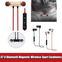 Wholesale apple ipone for sale – best XT Bluetooth Headphone Magnetic Wireless Sport Earphones S4 Headset BT with Microphone For iPone Samsung Note8 S8 S9