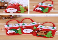 Wholesale cookie toys resale online - Red Christmas Candy Gift Bag Creative Printing Gift Bag Christmas Toy Decoration Bag Christmas Ornament Cookies Packaging Bags wmtJZF
