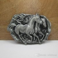 Wholesale animal pewter buckles for sale - Group buy Bucklehome Metal Horse Belt Buckle Animal Belt Buckle Western Belt Buckle With Pewter Fp
