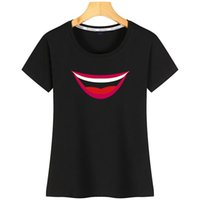 Wholesale paint ideas resale online - Face Mask Comfortable Painted Mouth Funny Shirt Women Interesting T Idea Designs With SizeShort Sleeve Gift Gttqr