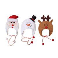 Wholesale santa rope for sale - Group buy Kids Xmas Hats Christmas Hat Decorations Children Fleece Long Rope Cartoon Santa Claus Snowman Elk Costume Beanie Hats Ski Caps M2976