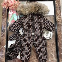Wholesale baby snow clothing for sale - Group buy 2020 Winter New born Baby Clothes duck s Down Jacket Baby Boys Girls Thickening Jumpsuits with Real Fur Kids Snow Suit