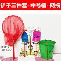 Wholesale children sand buckets resale online - Beach Toy Shovel and Bucket Thickened Scraper Baby Household Children Bucket Shovel Cartoon Sand Game