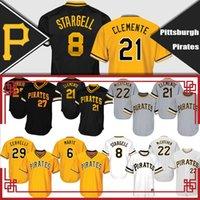 Wholesale 8 Willie Stargell Jersey Roberto Clemente Andrew McCutchen Starling Marte Kent Tekulve Francisco Cervelli Baseball Jerseys top