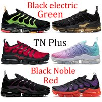 New TN Plus men women running shoes triple black electric green metallic gold brown Noble Red sneakers voltage purple pink sea trainers