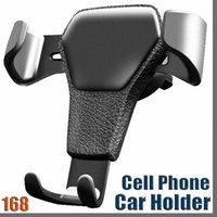 168D Gravity Car Holder For Phone in Car Air Vent Clip Mount No Magnetic Mobile Phone Holder Cell Stand Support For smartphones