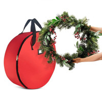 Wholesale christmas tree stores resale online - Christmas Wreath Storage Bag d Oxford Cloth Waterproof Storage Bag For Storing Christmas Tree Garland Xmas Wreaths Ornaments sqcVga