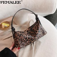 Wholesale zebra bags resale online - Autumn New Leopard Underarm Handbag Fashion Zebra Pattern Baguette Bag Women Designer High Sense Dot Armpit Tote Bag Cluth Purse
