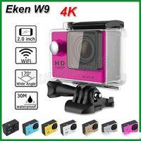 Wholesale sj6000 for sale - Group buy 10pcs DHL Free M Waterproof K Sports Camera SJ6000 Style EKEN W9 HD Action Camera Diving Wifi Version P LCD Wide Angle