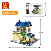 Wholesale country girl gifts resale online - 1298pcs building blocks French Country Lodge Home model architecture bricks diy creative educational toys for kids girl gifts
