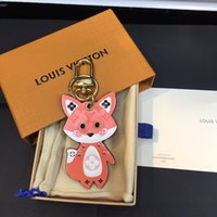 Wholesale bag fox men resale online - Newest Unisex The fox Keychain Purse Pendant Bags design Cars Chains Key Rings For Women Gifts Women men high quality Keychains