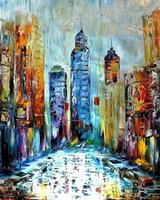 Wholesale big frame for walls for sale - Group buy Leonid Afremov quot A Big City quot Home Decoration Wall Decor Oil Painting On Canvas Wall Art Canvas Pictures For Living Room