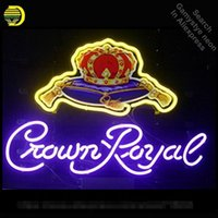 Wholesale lamp crown resale online - Crown roy Home Decor Neon Sign neon bulb Sign Glass Tube neon lights Recreation RoomProfessiona Iconic Sign Advertise Lamps