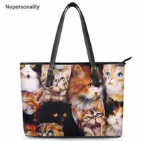 Wholesale lovely cross handbags resale online - Nopersonality Lovely Animal Black Cat Brand Designer Women Handbags Casual Luxury Female Crossdody Tote Bags Large Bolsa Pu Bags