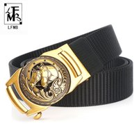 Wholesale military canvas belts for sale - Group buy LFMB Automatic Buckle Nylon Belt Male Army Tactical Belt Mens Military Waist Canvas Belts Cummerbunds High Quality Strap