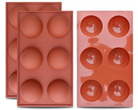 Large 6 Cavity Silicone Round Molds for Baking Chocolate Ice Cube Nonstick Moulds Jelly Pudding Cupcake mousse Pan Tray