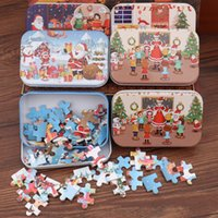 Wholesale other games resale online - Christmas Santa Claus Wooden Jigsaw Puzzle Game Mini Wood Puzzles Toy For Children Gifts Educational Toys JK2010KD