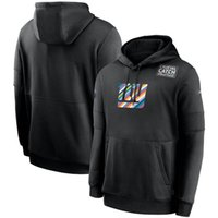 Wholesale new hoodies kids resale online - 2020 New York Giants Men Woemn Kid Crucial Catch Sideline Performance Pullover Football Hoodie Black