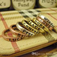Wholesale lovely couples resale online - Rings for Women Lovely x Retro Band Midi Mid Finger Top Rings Set Hot Silver Rose Gold Couple Rings