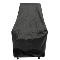 1pcs Mayitr Polyester Waterproof Chair Cover Dust Rain Cover Outdoor Garden Furniture Patio Protection Black