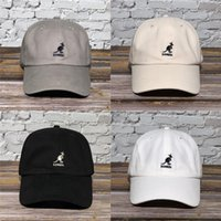 Wholesale kangaroo pouches resale online - S3jYQ retro kangaroo Design kangaroo pouch animal gift t shirt men style cotton plus l size Letter Graphic Humor Spring cap hat cap hat in b