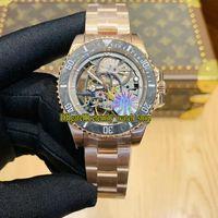 Wholesale fiber gold for sale - Group buy Rose gold Case Best version RF Refit Edition Carbon Fiber Bezel Skeleton Dial Japan Miyota Automatic Mens Watch Sport Watches