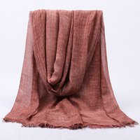 Wholesale modal scarves resale online - Fashion Scarves for Women Solid Lightweight Scarf Skin friendly Modal Shawls and Wraps