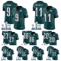 Wholesale super bowls resale online - Philadelphia Eagles Men Zach Ertz Nick Foles Carson Wentz Jay Ajayi Super Bowl Alshon Jeffery football Jersey