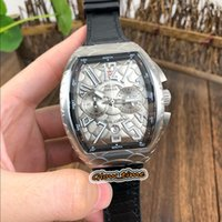 Wholesale leather watche resale online - NEW SARATOGE V SC DT COBRA Black Snake pattern Dial Japan VK Quartz Chronograph Movement Mens Watch Silvery Case Leather Strap Watche