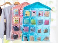 Wholesale pocket door hangers for sale - Group buy 16 Pockets Socks Bra Underwear Hanging Organizer Tidy Rack Hanger Storage Door Bag For Bathroom Living Room Household Sundries