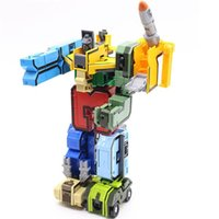 Wholesale newest digits Transform into car plane Missile Creative in military robot Action Figures Building Block toys for KidsGQ1