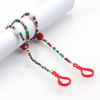 Wholesale jewelry neck resale online - Beaded Face Mask Lanyards Face Mask Holder Strap Fashion Jewelry Mask Neck Strap for Women Chain Neck Strap IIA773