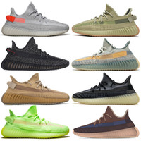 Wholesale earthing shoes resale online - 2020 Kanye Shoes Womens Mens Running Shoes Tail Light Sulfur Yecher Cinder Earth Abez Asriel Israfil Eliada Trainers Sneakers size
