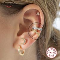 Wholesale clips earings for sale - Group buy Canner Sterling Silver Cuff Earrings for Women Ear Clip on Earings Zircon No Piercing Earring Jewelry Pendientes