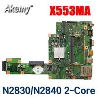 Wholesale New Amazoon X553MA Laptop motherboard For Asus X553MA X553M A553MA D553M F553MA K553M Test original mainboard N2830 N2840 Core