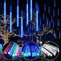 Wholesale led rain strips resale online - Watwerproof CM CM Snowfall LED Strip Light Christmas Meteor Shower Rain Tube Light String AC100 V for Xmas Party Wedding