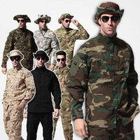 Wholesale tactical camo uniforms for sale - Group buy Outdoor tactical combat ACU woodland camo Uniform army camouflage Hunting clothes uniform paintball Wargame uniform