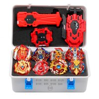 Wholesale beyblade metal toy sets resale online - 2019 Gold Takara Tomy Launcher Beyblade Burst Arean Bayblades Bables Set Box Bey Blade Toys For Child Metal Fusion New Gift