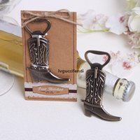 Wholesale western birthday party resale online - Creative Hitched Cowboy Boot Bottle Opener For Western Birthday Bridal Wedding Favors And Party Gifts LX3532