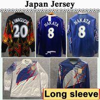 Wholesale 98 Japan SOMA AKITA OKANO NAKATA Retro Mens Long sleeve Soccer Jerseys National Team KAWAGUCHI Goalkeeper Home Away KAZU Football Shirt