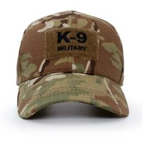 Wholesale 2020 New Baseball Caps Fishing Cap K9 Police Special Army Hunting Camouflage Cap Jungle Hat Tactical Men Hats With Patch Gorras