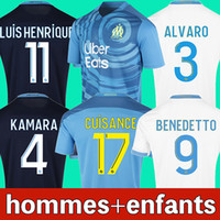 Wholesale 20 Olympique De Marseille soccer jersey OM Marseille maillot de foot CUISANCE BENEDETTO KAMARA football shirt THAUVIN PAYET
