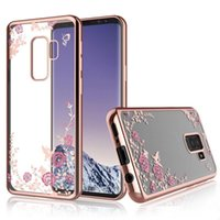 Wholesale secret note for sale - Group buy Luxury Diamond Secret Garden Flower Clear Plating Soft TPU Case For iPhone X XR XS Max S Samsung S6 S7 Edge S8 S9 Plus Note Note8