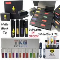 Wholesale waxing cartridge resale online - TKO Extracts TKO Sauce Vape Cartridges Packaging ml Ceramic Coil Empty Vape Pen Cartridge Dab Wax Vaporizer Vape Carts Thread Atomizer