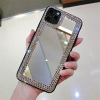 Wholesale square mirror fashion designers case for iphone pro max phone cases case coque iphone pro max case xr cases plus crystal cover